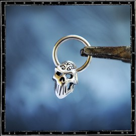 Tribal Skull on Hoop Earring