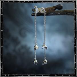 Drop Mini Skull Earring (Pair)
