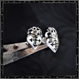 Sacred Heart Studs (pair)