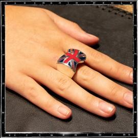 Union Jack Ring (Red & Blue Enamel)