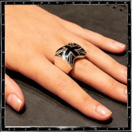Union jack ring (black enamel)