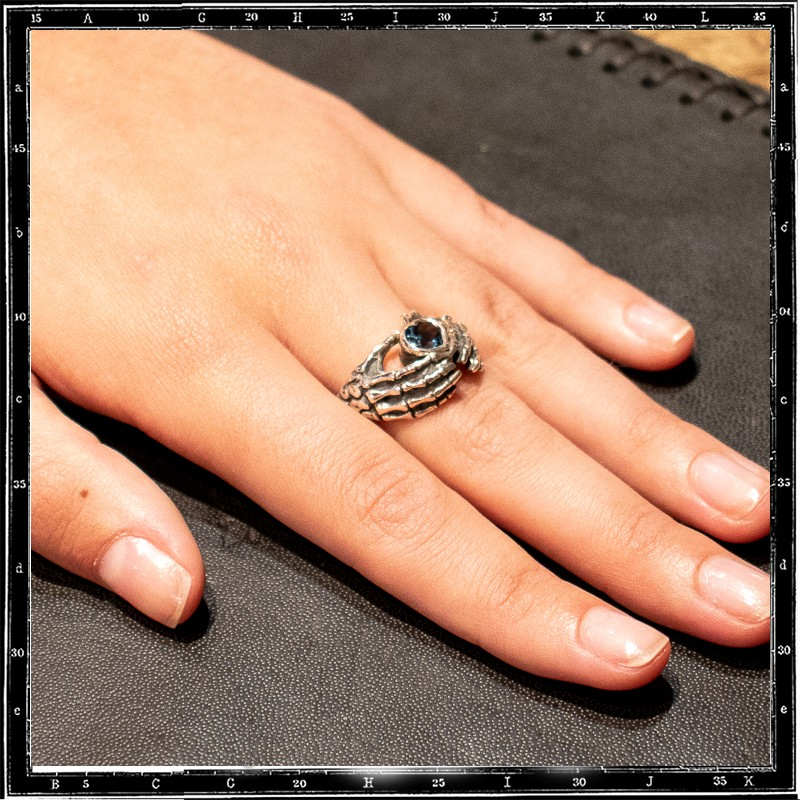 Hands of Love ring (Custom Gemstone email us for a quote)