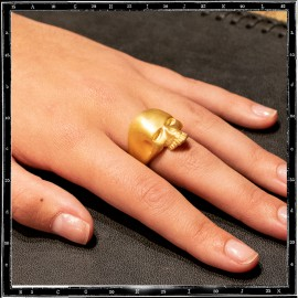 Gold Plated Small Evil Skull Ring (additional cost for plating)
