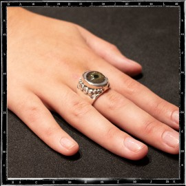Beaded eye ring
