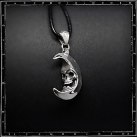 Skull in the moon pendant