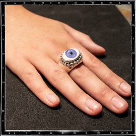 Heavy beaded eye ring