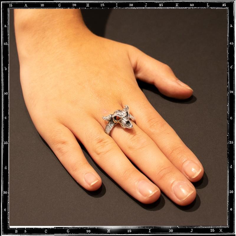 Small Cow Skull Ring