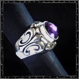 Crystal Fleur de Lys Ring