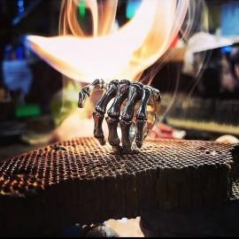 large bone hand ring