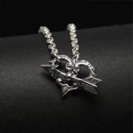 Tudor heart & arrow necklace