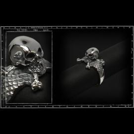 3D skull & cross bones ring (small)