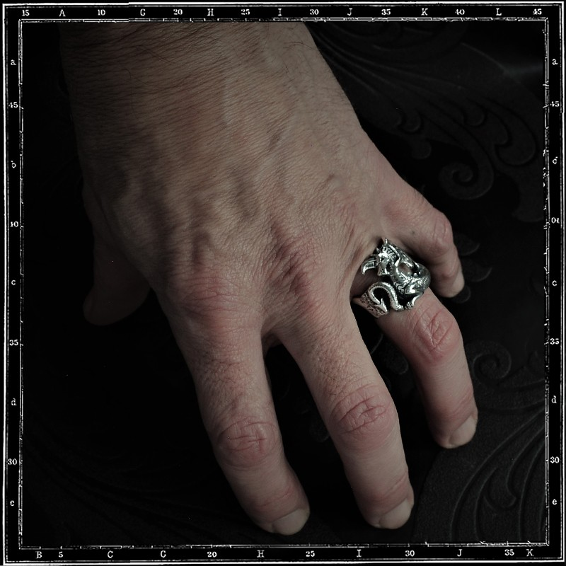 Small flat dragon ring