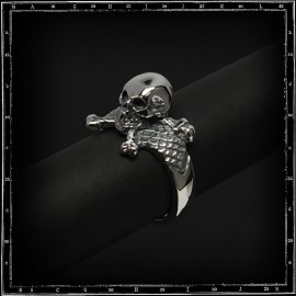 3D skull & cross bones ring (small)
