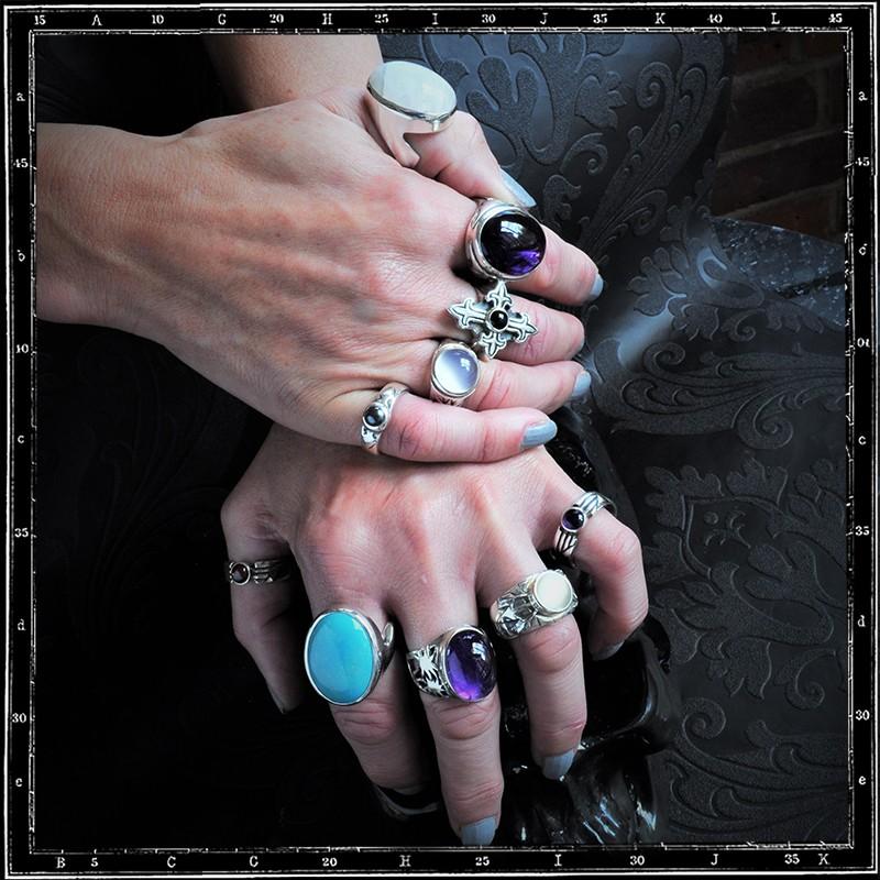 Fleur De Lys Stone ring selection