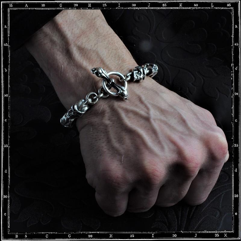 Grin skull bracelet