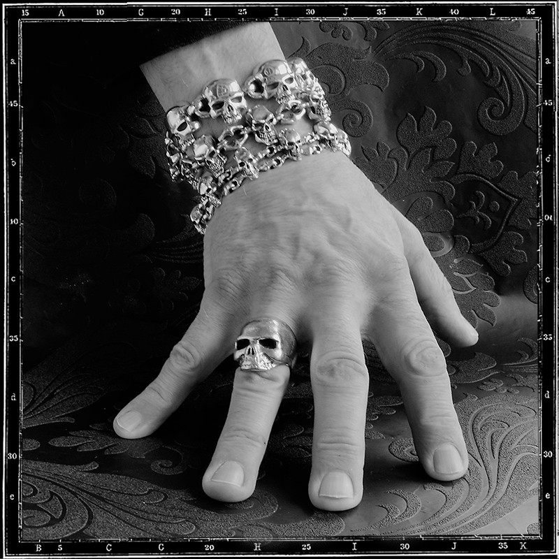 selection of skull bracelets