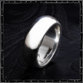 HIGH 'D' PLAIN BAND RING (8mm x 3mm)