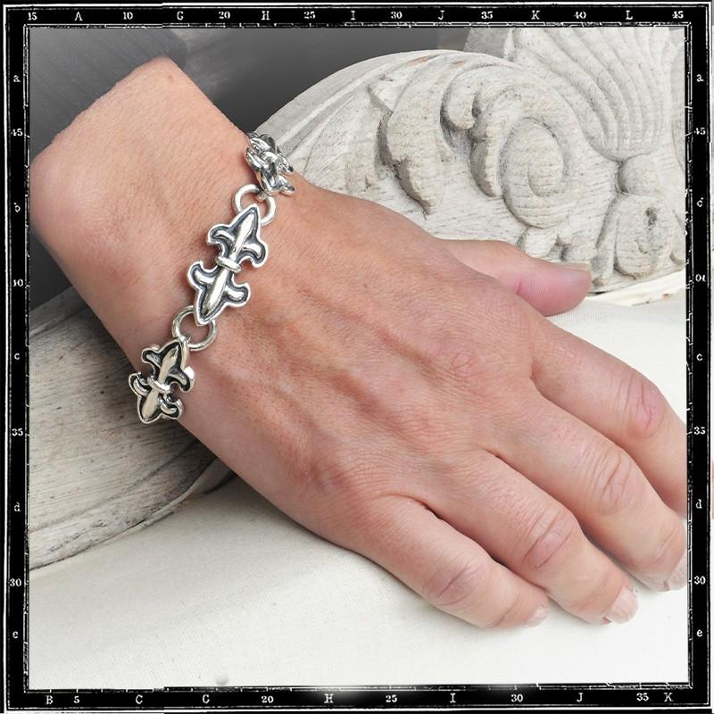 Double Fleur de Lys bracelet (Thin)