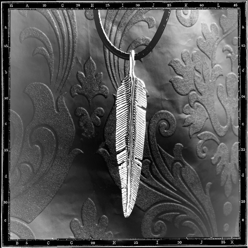 Feather pendant (Double Sided Medium)