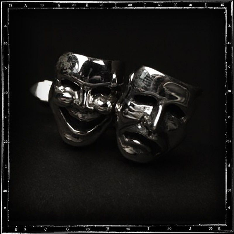 Comedy & tragedy cufflinks