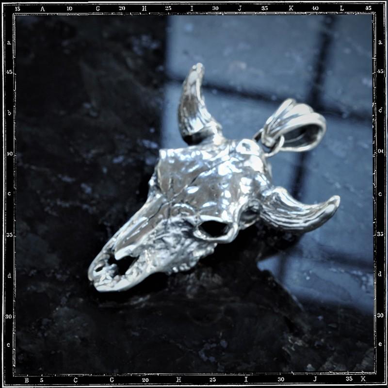 COW SKULL PENDANT (Large 3D)