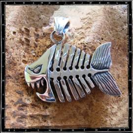 Piranha fish pendant