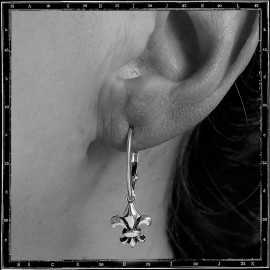 Fleur de lys hoop earrings