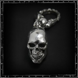 Solid skull keyring