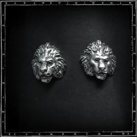 Lion head stud/earring