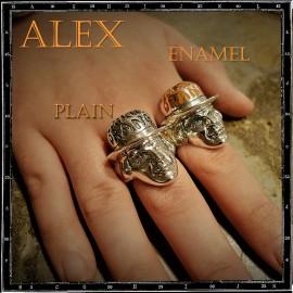 Clockwork Orange ring ALEX  (enamel)
