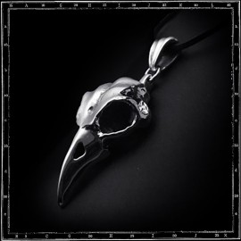 LARGE BIRD SKULL PENDANT
