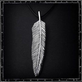 DOUBLE SIDED FEATHER PENDANT (large)