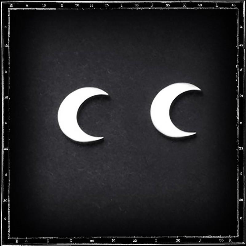 Moon stud earrings