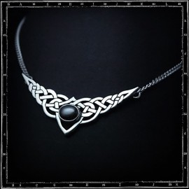 Celtic and stone pendant