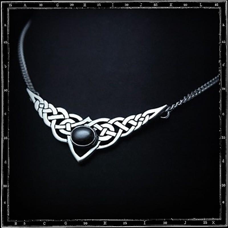 Celtic and stone pendant