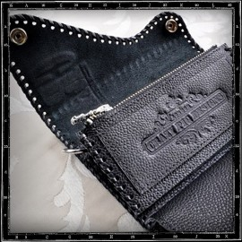 Classic Black Crazy Pig Leather Wallet