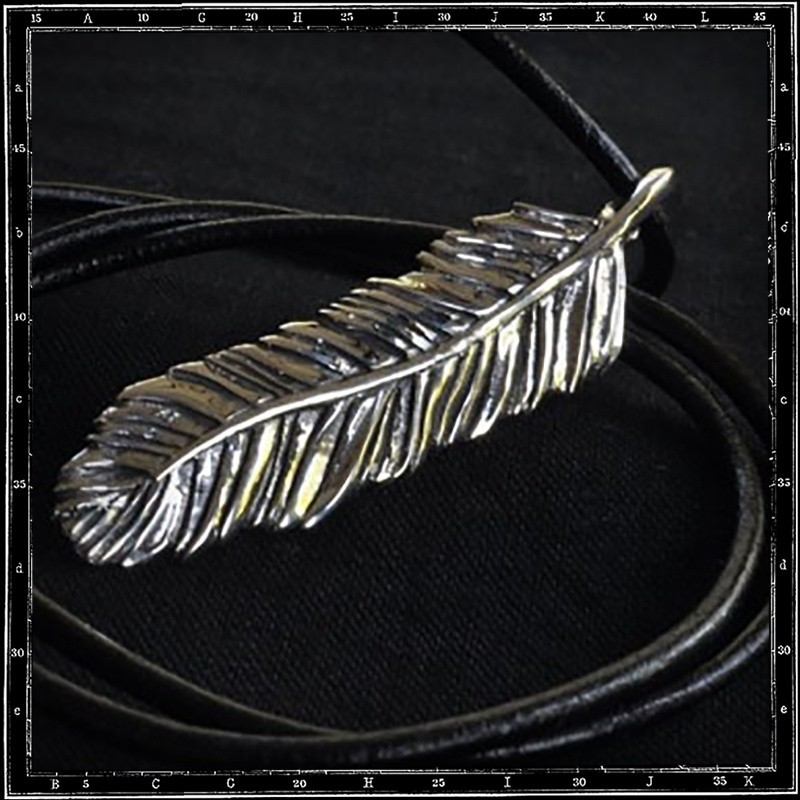 Louvres Feather Pendant (medium)