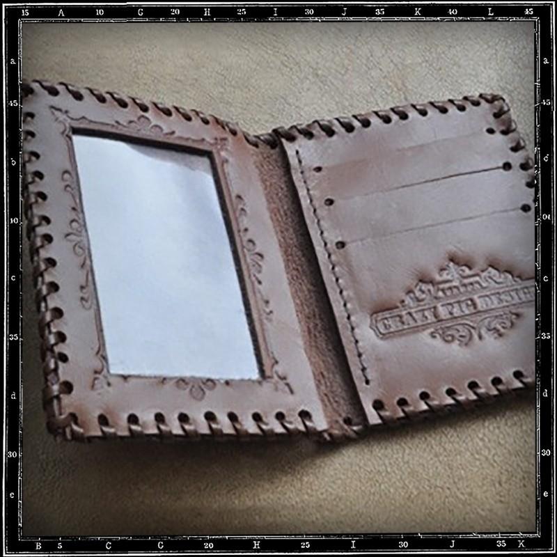 Crazy Pig Designs Travelcard Holder Brown