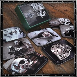 Crazy Pig Designs Coasters (Dark Set)