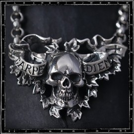 Carpe Diem Skull Necklace