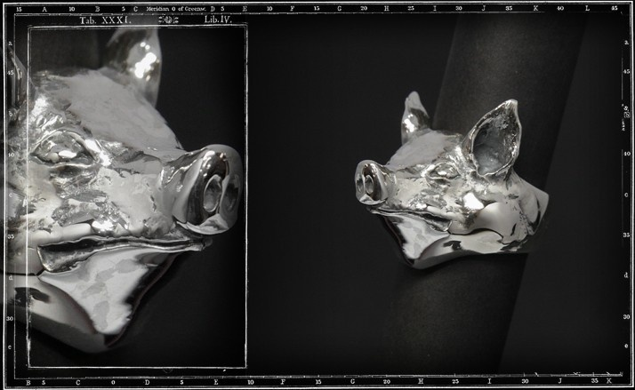 Pig head ring (large)