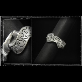 Forever scroll ring