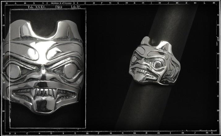 Totem face ring 2 (beaver)
