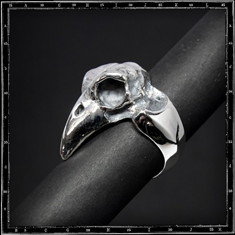 Plain bird skull ring