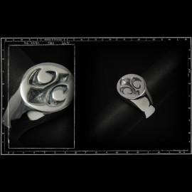 Signet fleur de lys ring