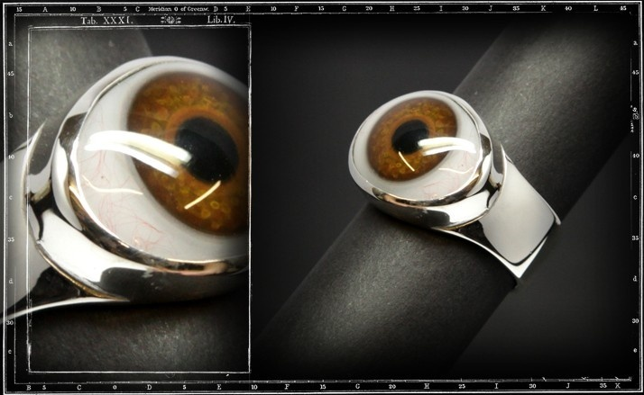 Plain eye ring