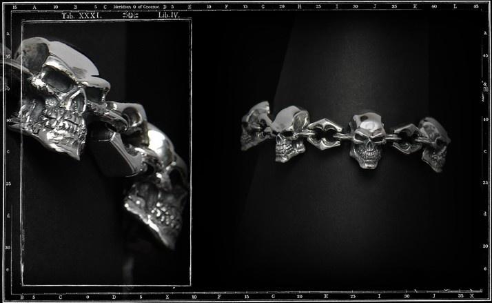 Skull link bracelet