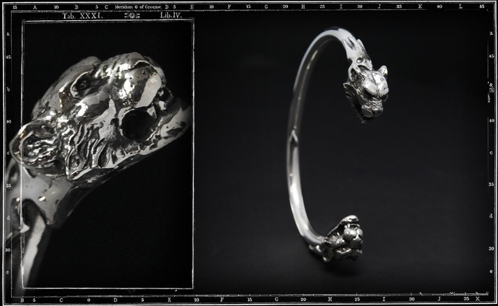 Tiger's head bangle