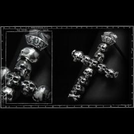 Catacombs  skulls cross pendant