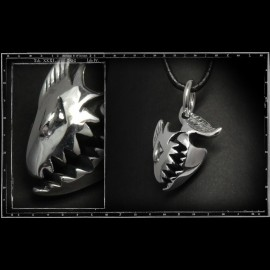 Sharky Hinged Jaw Pendant